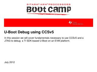U-Boot Debug using CCSv5