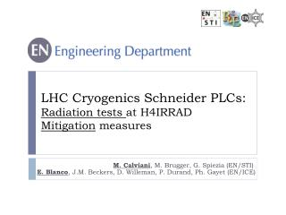 LHC Cryogenics Schneider PLCs:  Radiation tests  at H4IRRAD  Mitigation  measures