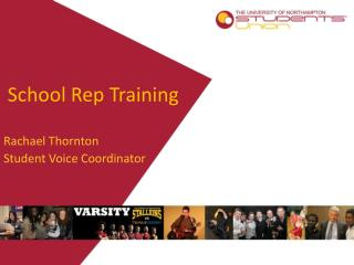School Rep Training
