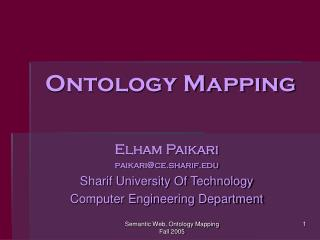 Ontology Mapping