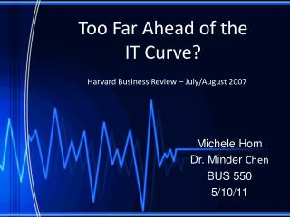 Too Far Ahead of the  IT Curve
