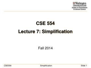 CSE 554 Lecture 7: Simplification