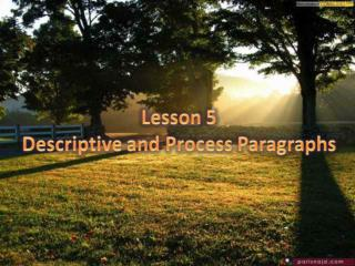 Describing people, places, and processes