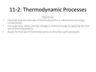 11-2: Thermodynamic Processes