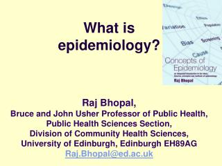 What is epidemiology? Objectives