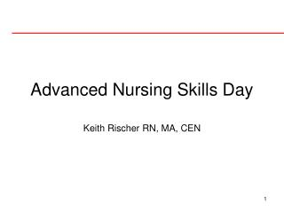 Advanced Nursing Skills Day