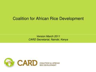 Coalition for African Rice Development