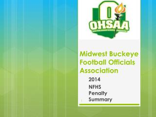Midwest Buckeye  Football Officials Association