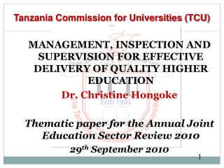 Tanzania Commission for Universities (TCU)