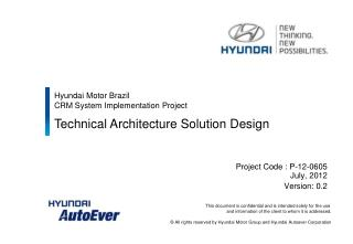 Hyundai Motor Brazil  CRM System Implementation Project
