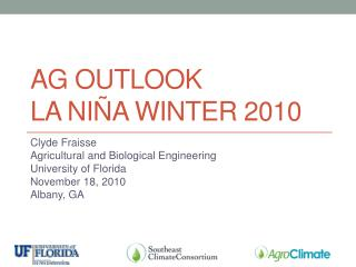 Ag outlook La Niña winter 2010