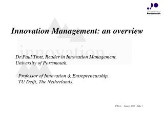 Innovation Management: an overview