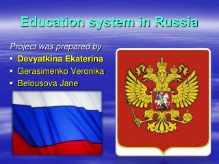 Education system in Russia