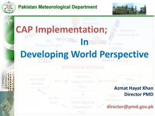 CAP Implementation; In Developing World Perspective Azmat Hayat Khan Director PMD