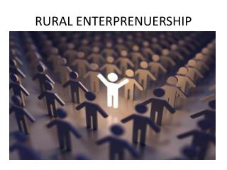 RURAL ENTERPRENUERSHIP