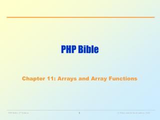 PHP Bible