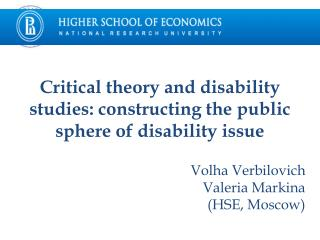 Critical theory and disability studies: constructing the public sphere of disability issue