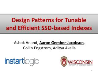 Design Patterns for Tunable and Efficient SSD-based Indexes