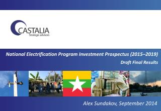 National Electrification Program Investment Prospectus (2015–2019) Draft Final Results