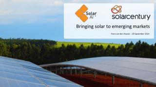 Bringing solar to emerging markets