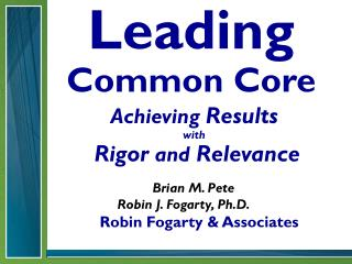 Leading Common Core