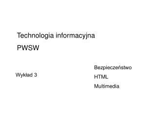 Bezpieczeństwo HTML Multimedia