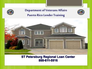 Department of Veterans Affairs Puerto Rico Lender Training