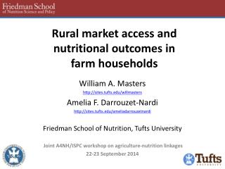 Rural market access and  nutritional outcomes in  farm households