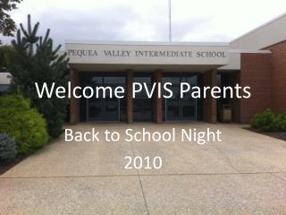 Welcome PVIS Parents