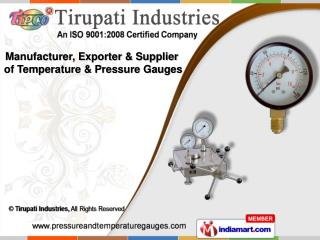 Thermometer Gauges &  Pressure Gauge Accessories