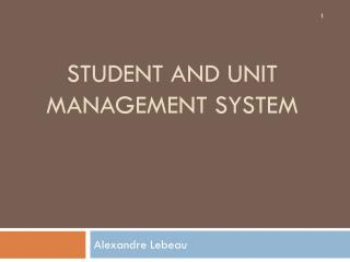 Student  and unit management system