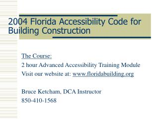 2004 Florida Accessibility Code for Building Construction