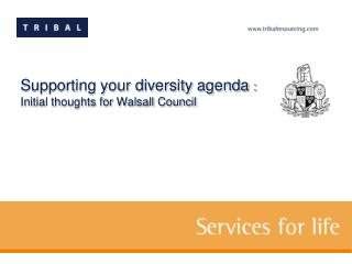 Supporting your diversity agenda  :  Initial thoughts for Walsall Council