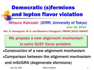 Democratic (s)fermions  and lepton flavor violation