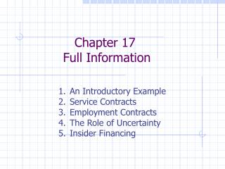 Chapter 17 Full Information