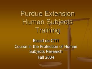 Purdue Extension Human Subjects Training