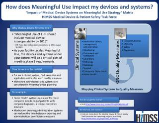How does Meaningful Use impact my devices and systems?