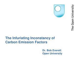 The Infuriating Inconstancy of Carbon Emission Factors