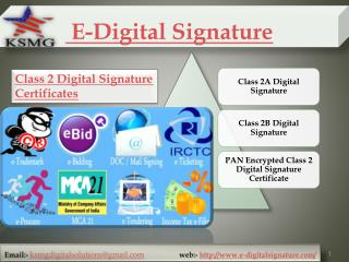 Digital Signature At Lowest Price