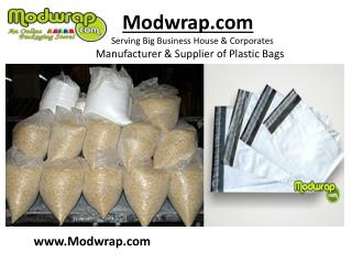 Security Tamper Evident Courier Bags by Modwrap.com.