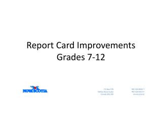 Report Card Improvements Grades 7-12