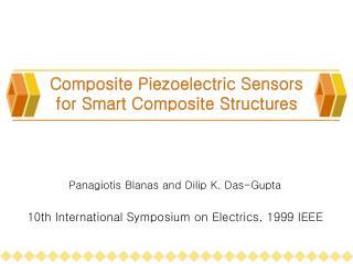 Composite Piezoelectric Sensors for Smart Composite Structures