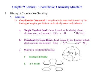 Chapter 9 Lecture 1 Coordination Chemistry Structure