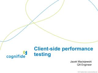 Client-side performance testing