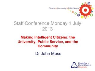 Staff Conference Monday 1 July 2013