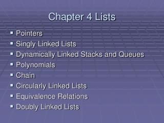 Chapter 4 Lists