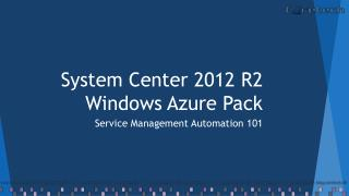 System Center 2012 R2 Windows Azure Pack