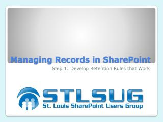 Managing Records in SharePoint