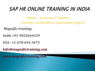 Sap hr online training in india