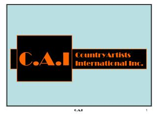 CountryArtists International  Inc .